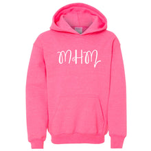 Load image into Gallery viewer, pink MHM youth hooded sweatshirts for girls