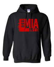 Load image into Gallery viewer, black Miami born and bred hoodie