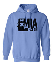 Load image into Gallery viewer, blue Miami born and bred hoodie