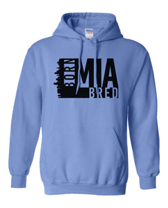 blue Miami born and bred hoodie