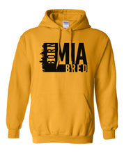 Load image into Gallery viewer, gold Miami born and bred hoodie