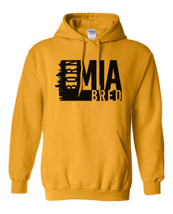 gold Miami born and bred hoodie