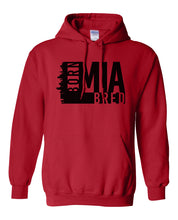 Load image into Gallery viewer, red Miami born and bred hoodie