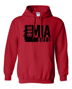 red Miami born and bred hoodie