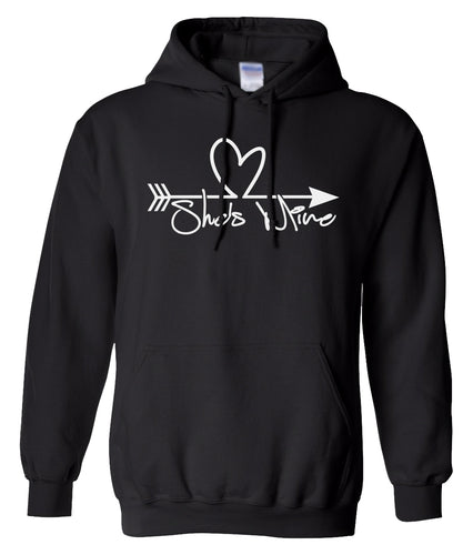 black she's mine valentines day hoodie
