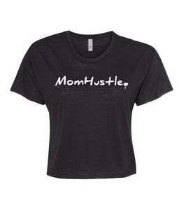 black mom hustle crop top t-shirt