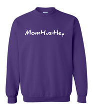 Load image into Gallery viewer, purple mom hustle sweatshirt