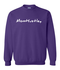 purple mom hustle sweatshirt