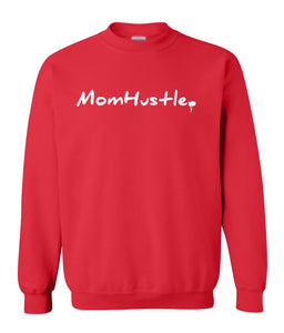 red mom hustle sweatshirt