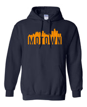 Load image into Gallery viewer, navy Detroit Motown hoodie