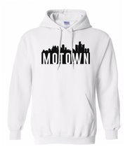 Load image into Gallery viewer, white Detroit Motown hoodie