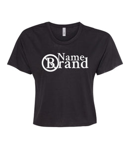 black name brand crop top t shirt