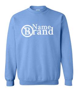 blue name brand sweatshirt