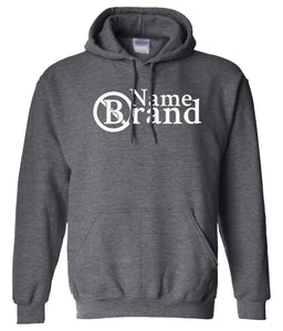 name brand charcoal pullover hoodie
