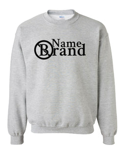 grey name brand sweatshirt