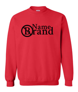 red name brand sweatshirt