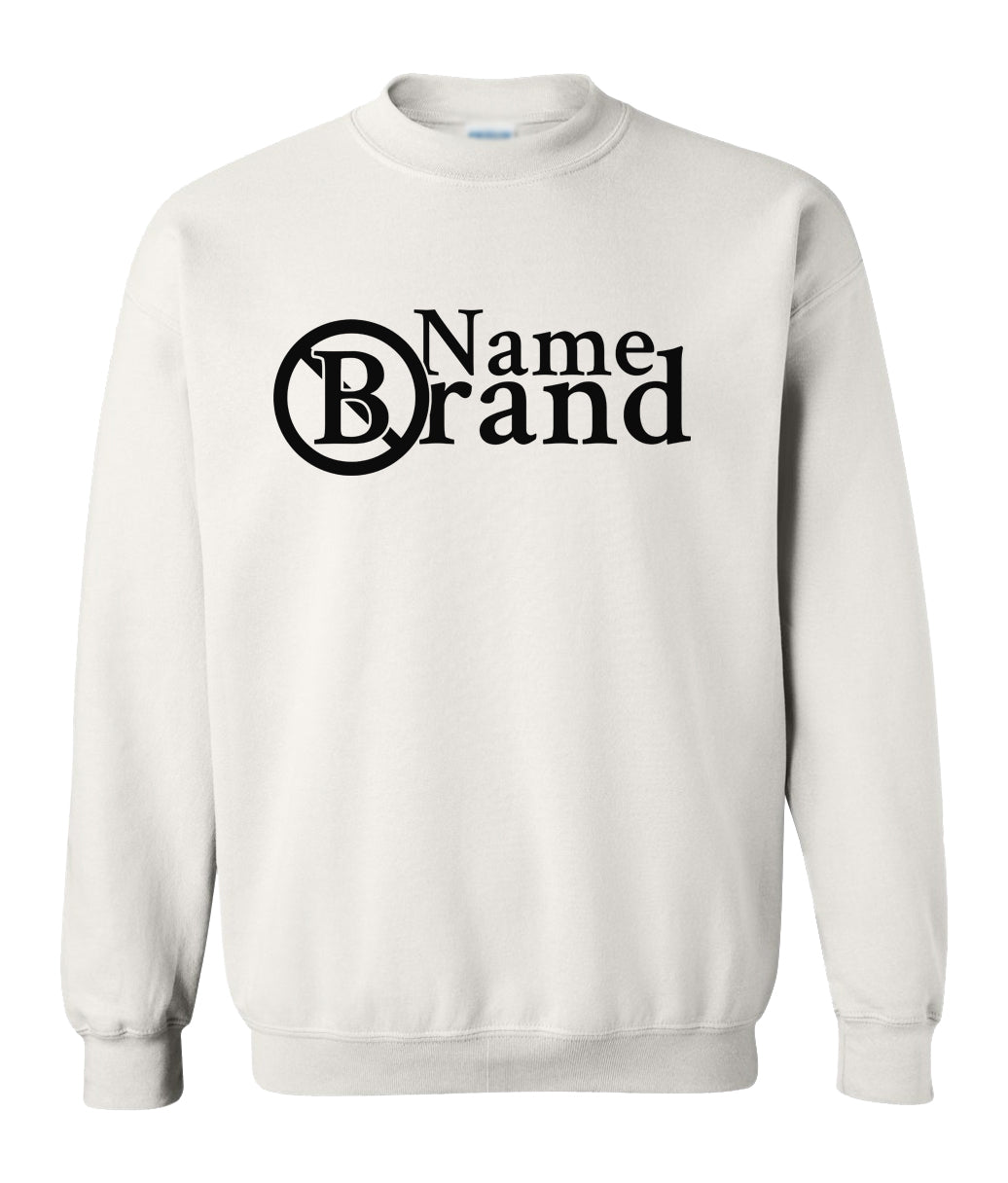 white name brand sweatshirt