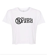 Load image into Gallery viewer, white name brand crop top t shirt