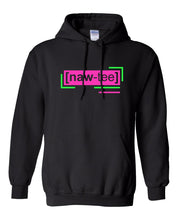 Load image into Gallery viewer, neon pink florescent naughty streetwear hoodie