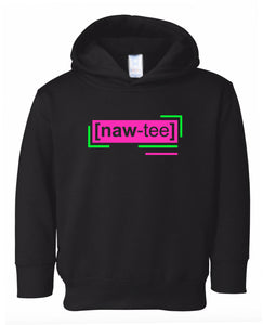 florescent pink naughty toddler neon hoodie