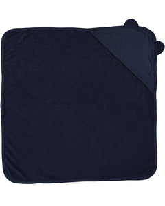 navy hooded baby towel with ears