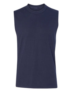 navy men's sleeveless t-shirt