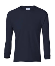 Load image into Gallery viewer, navy youth long sleeve t shirt