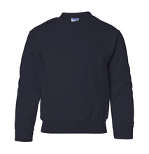 Load image into Gallery viewer, navy youth crewneck sweatshirt