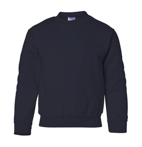 navy youth crewneck sweatshirt