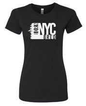 Load image into Gallery viewer, black NYC women's t-shirt