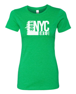 green NYC women's t-shirt