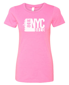 hot pink NYC women's t-shirt
