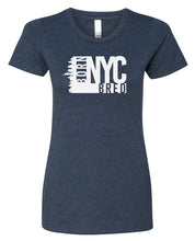 Load image into Gallery viewer, navy NYC women's t-shirt