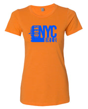 Load image into Gallery viewer, orange NYC women's t-shirt