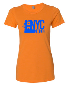 orange NYC women's t-shirt