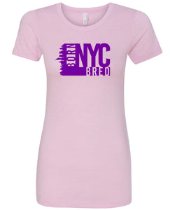 pink NYC women's t-shirt