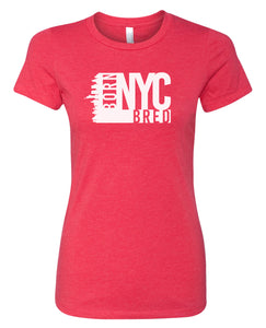red NYC women's t-shirt