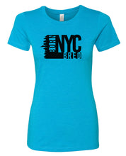 Load image into Gallery viewer, turquoise NYC women's t-shirt