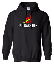 Load image into Gallery viewer, black no days off hoodie