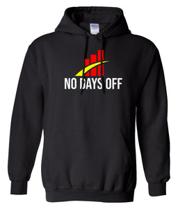 black no days off hoodie