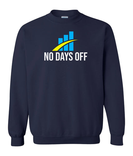 navy no days off sweatshirt