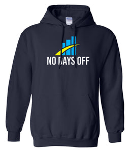 navy no days off hoodie