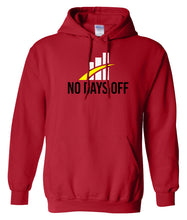 Load image into Gallery viewer, red no days off hoodie
