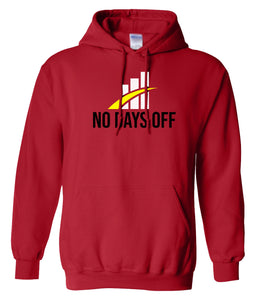 red no days off hoodie
