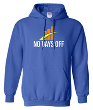Load image into Gallery viewer, blue no days off hoodie