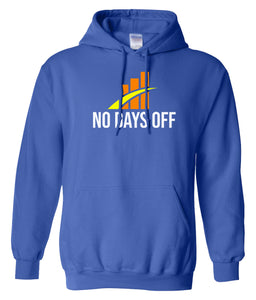 blue no days off hoodie