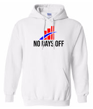 Load image into Gallery viewer, white no days off hoodie
