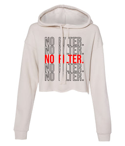 dust no filter cropped hoodie