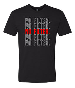 black no filter crewneck t shirt