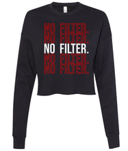 Load image into Gallery viewer, black no filter cropped sweatshirt